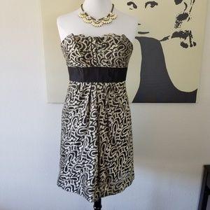 👗 Kay Unger Black & Silver Dress 8 (NWOT)
